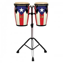 "Tycoon Junior Congas, 8""+ 9"", Puerto Rican Flag Finish"
