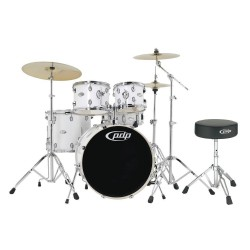 PDP by DW Mainstage Drum-Set Gloss White Chrome Hardware