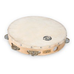 "LP CP 10"" Tambourine with Head Single Row"