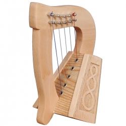 Muzikkon O'Carolan Harp, 5 String Lacewood Knotwork