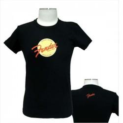 T-Shirt Fender Ladies Spotlight, Black, Small