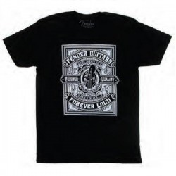 T-Shirt Fender Forever Loud Trusted Quality, Black, Medium