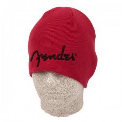 Bonnet avec logo Fender, rouge